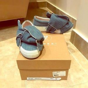 Joshua Sanders Denim Bow Knot Sneakers Size: 36